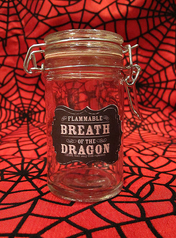 Breath of the Dragon Glass Apothecary Jar