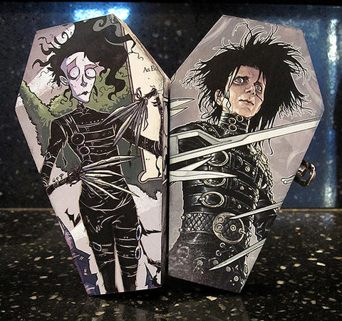 Edward Scissorhands Comic Coffin Box