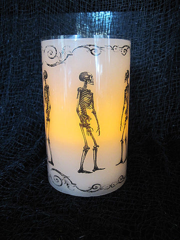 Skeleton LED Flameless Wax Candle