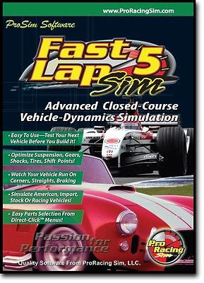 Brand New COMP Cams Pro Racing Sim Fast Lap Sim 5 Software #181701