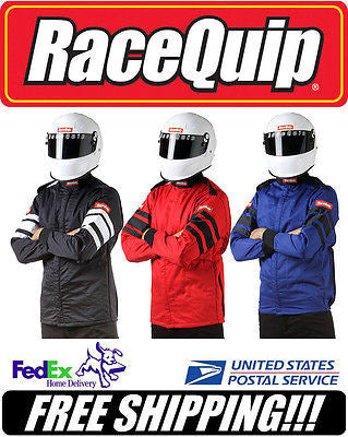 RaceQuip BLACK XL Xtr Lg SFI 3.2A/5 5-Layer Racing Race Driving Jacket #121006
