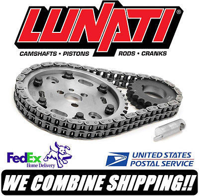 Lunati V8 Raised Cam SBC Chevy 2-Piece Adjustable Billet Timing Set #95760