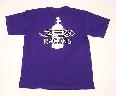 Brand New Purple ZEX Nitrous Oxide M Medium  Logo'd T-Shirt #Z109-M