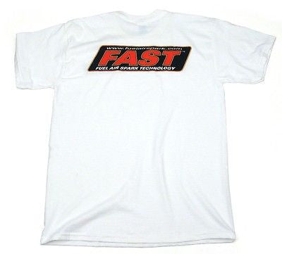 Brand New FAST 100% Cotton White Large Logo Short Sleeve T-Shirt #30999902