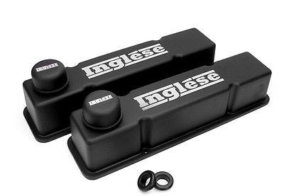 New Inglese Black Wrinkle Powdercoated BBC Big Block Chevy Valve Covers NG4037
