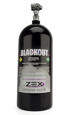 New ZEX 5lb Black Powdercoat Nitrous Oxide NOS Bottle w/ Hi-Flow Valve #82355
