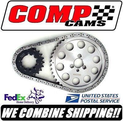 New Comp Cams 265-400ci SBC Chevy Keyway Adjustable Billet Timing Set #7100