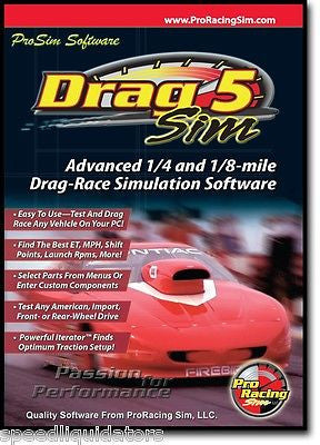 Brand New COMP Cams Pro Racing Sim Drag 5 Sim Software #181601