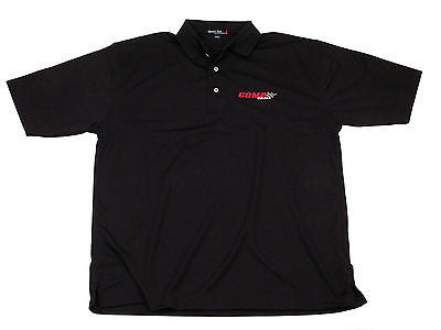 Brand New COMP Cams Small Black Dri-Mesh Moisture Wicking Polo Shirt #C1015-S