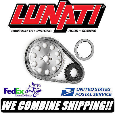 Lunati Raised Cam, Rocket SBC Chevy Keyway Adjustable Billet Timing Set #95560