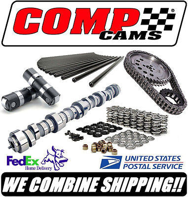 COMP Cams 247/255 GM LS LS1 LS2 LS6 LSR Cathedral Port Complete Roller Cam Kit