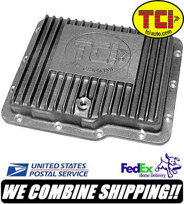 TCI GM Powerglide Cast Aluminum Transmission Pan Stock Depth #528300