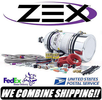 ZEX Nitrous Oxide 50-200HP 4cyl EFI Polished Direct Port Nitrous Kit #82030P