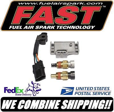 FAST Carb to EFI Swap Ford 1 Bar/14.5psi Sensor Kit MAP TPS ATS CTS #307049