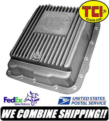 TCI GM 700R4 4L60E Cast Aluminum Transmission Pan 2 Extra Quarts #378000