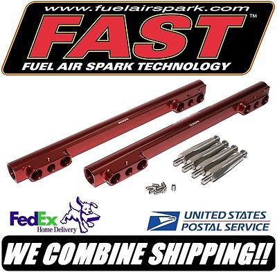 New FAST SBC Chevy Fuel Rail Kit for F.A.S.T. 3012350 EFI Intake Manifold #30350