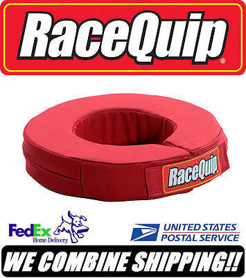"Red RaceQuip 360° Non-SFI Rated 2"" Thick Karting Helmet Support Collar #333013"