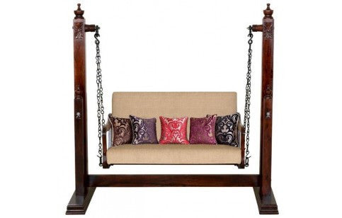Carved Coral Swing (Dark Brown)