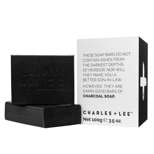 Charles + Lee Charcoal Soap Duo 200g