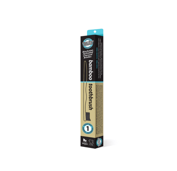 Essenzza Bamboo Activated Charcoal Soft Toothbrush 1 Pack