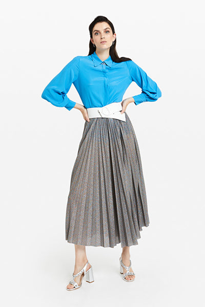 Look Lurex Pleated Skirt