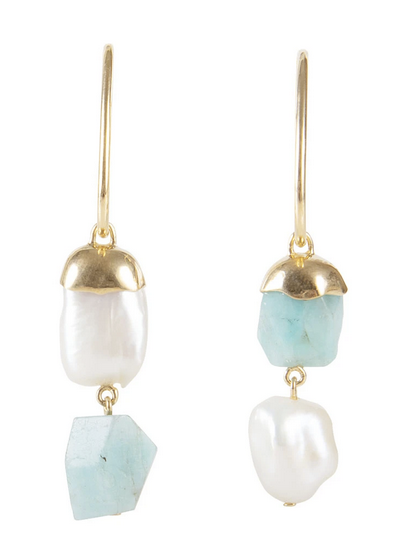 Pearl Cotton Candy Drop Earrings