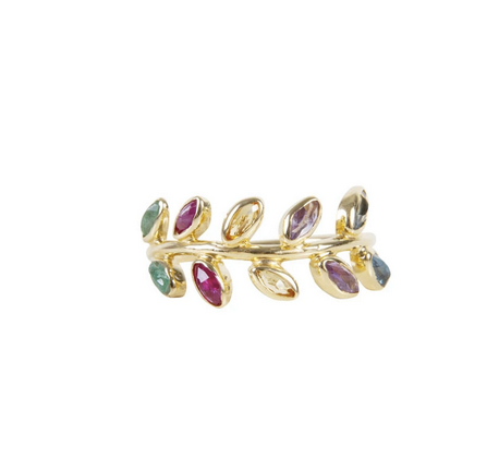 Rainbow Vine Ring