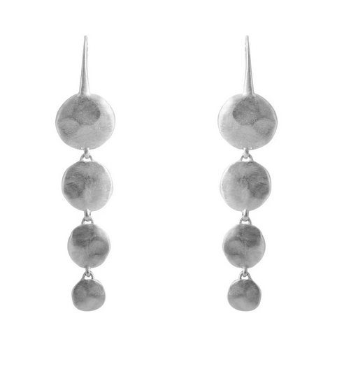 Waterfall earrings/ silver