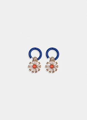 Vari Charm Hoop Earrings