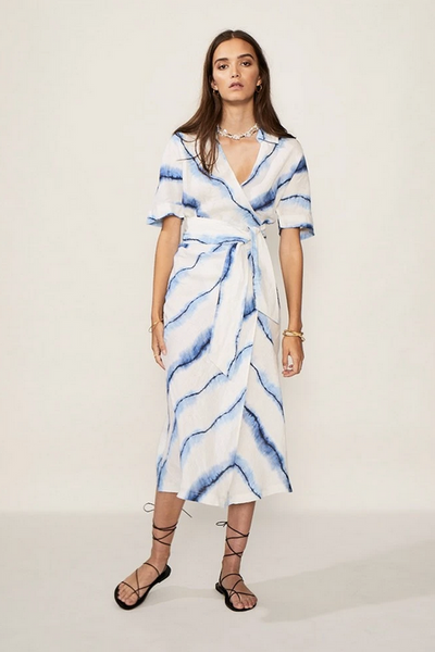 Estelle Maxi Tie Wrap Dress