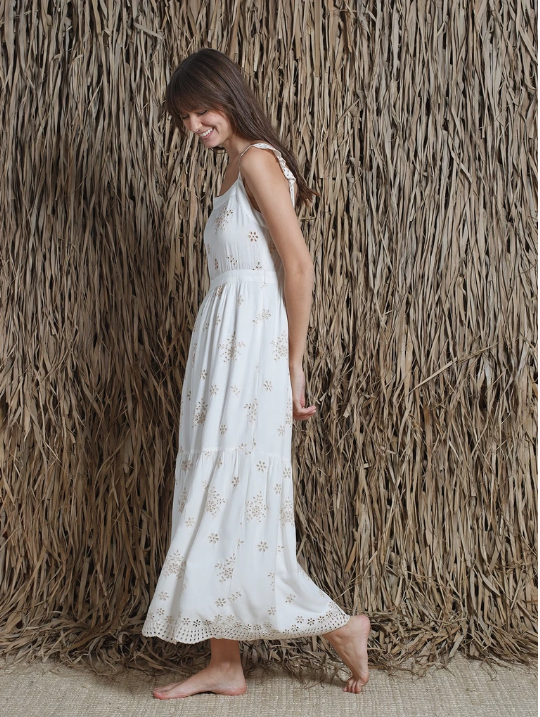 Embroidered Crudo Dress