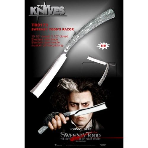 "10 1/2"" Johnny Depps Razor / Movie Sweeney Todd Knife - Sun-Blades"