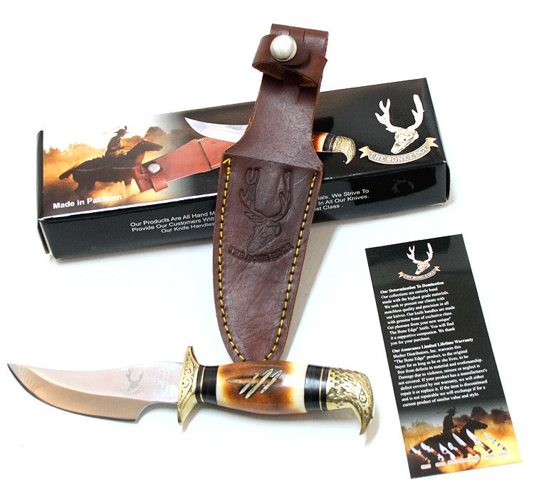 "8"" Eagle Head Skinner Knife Bone Handle Hunting Knife - Sun-Blades"