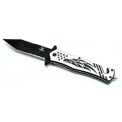 "8"" Falcon Design Spring Assisted Knife Stainless Steel - Sun-Blades"