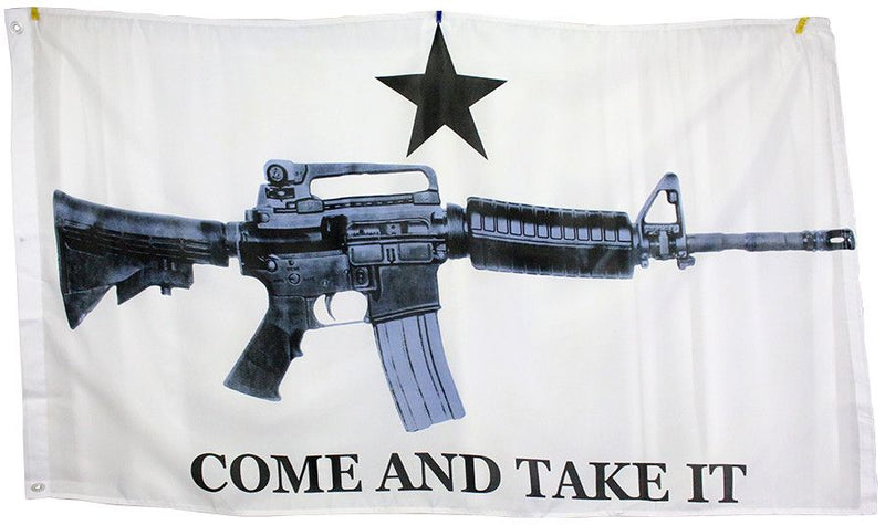 3x5 Super Polyester M4 Carbine Come & Take it Flag indoor Outdoor - Sun-Blades