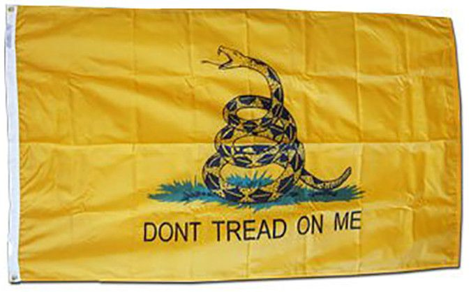 3x5 Poly-Nylon Gadsden Dont Tread on Me Flag indoor Outdoor - Sun-Blades