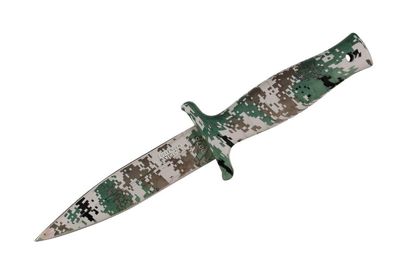 "9"" Defender Xtreme Woodland Camo  Hunting Knife with Sheath - Sun-Blades"