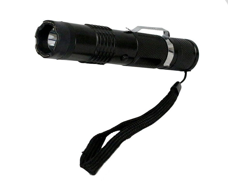 "6"" Defender Black Stun Gun Flashlight - Sun-Blades"