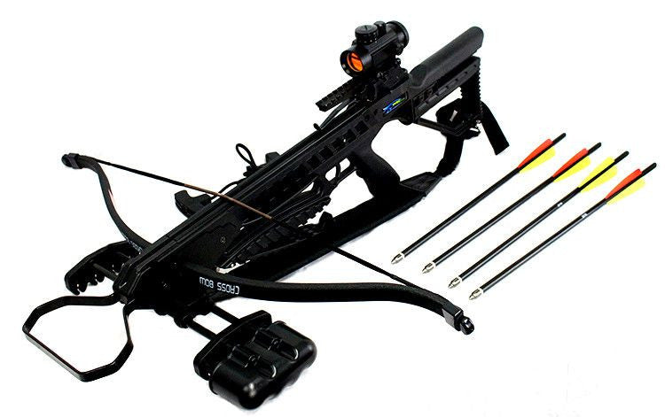 175 LBS  Recurve Hunting Crossbow Package Black
