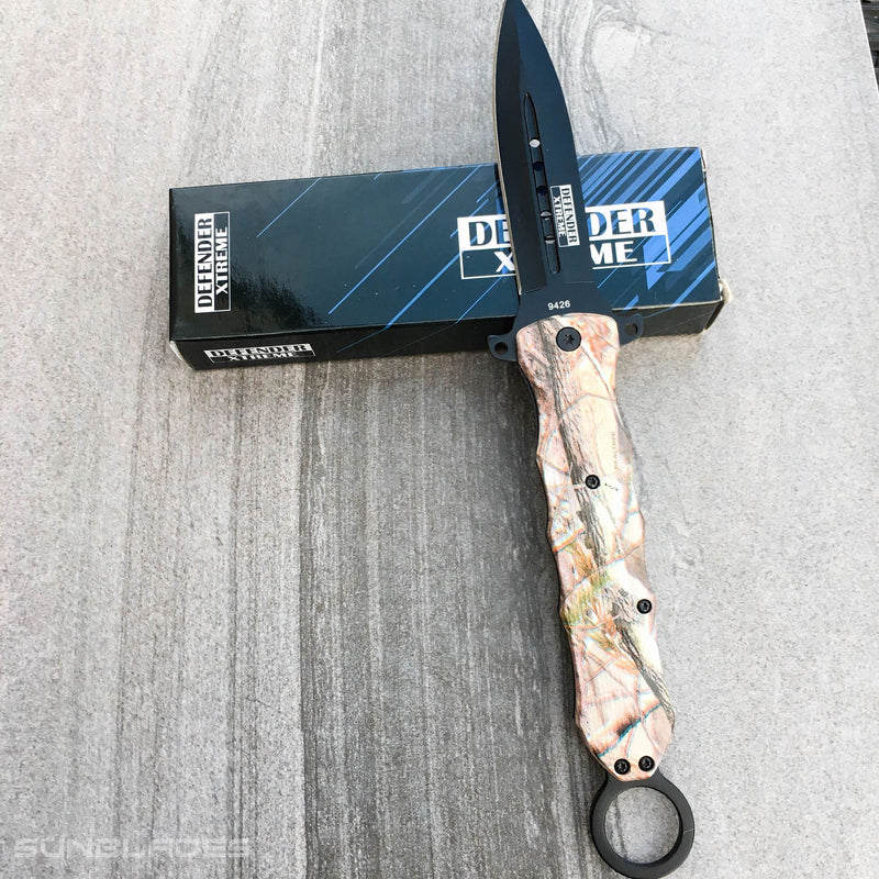 "10"" Camo Stiletto Knife - Sun-Blades"