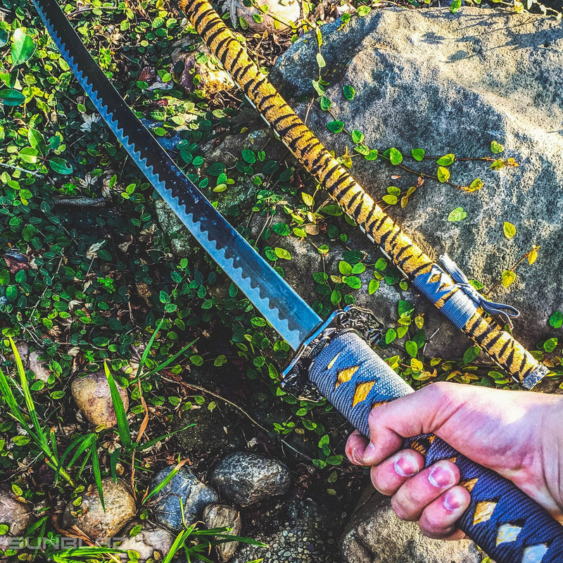 "40"" Collectible Samurai Sword Ninja Style with Tiger Design - Sun-Blades"