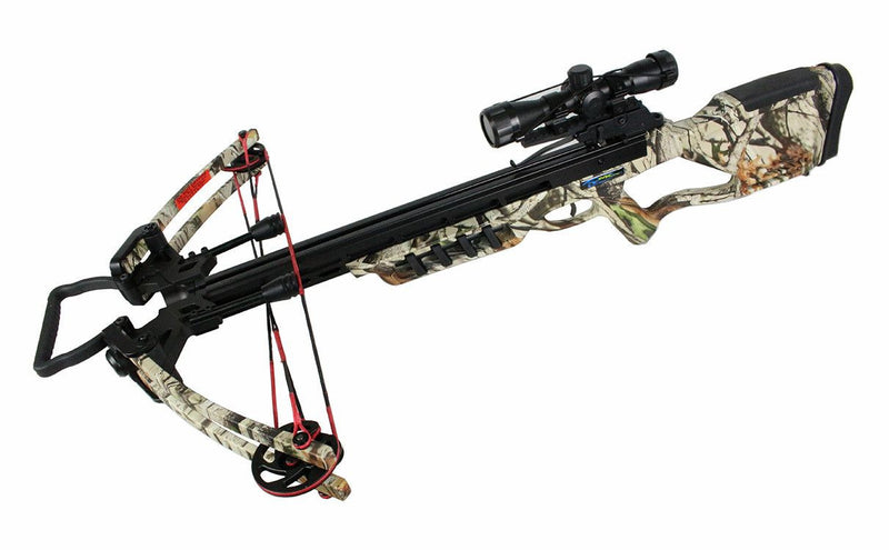 175 LBS Cobra Compound Hunting Crossbow W/ Fiber Glass Limb Woodland Camo