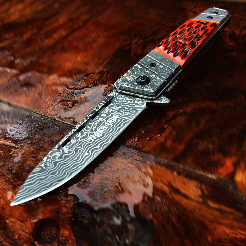 Printed Tribal Knife - Sun-Blades