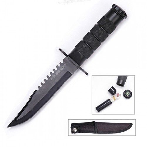 "8"" Heavy Duty Mini Survival Knife with Sheath - Sun-Blades"