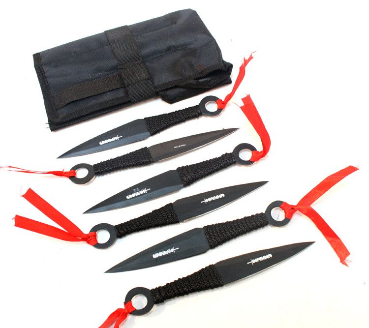 New Set of 6 Throwing Knives with Sheath - Sun-Blades