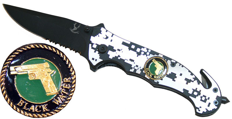 "4.5"" Folding Spring Assisted Knife - Sun-Blades"
