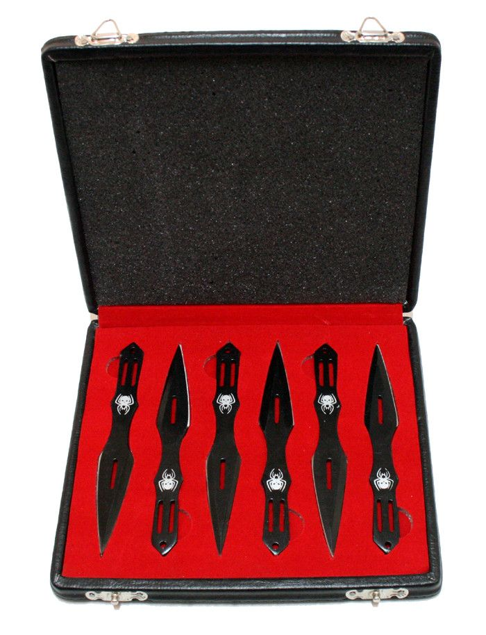 Set of 6 Throwing Knives With Gift Box - Sun-Blades