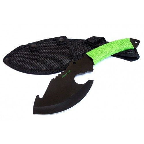 "10.5"" Black Full Tang Zombie Killer Skinner Hunting Knife with Sheath - Sun-Blades"