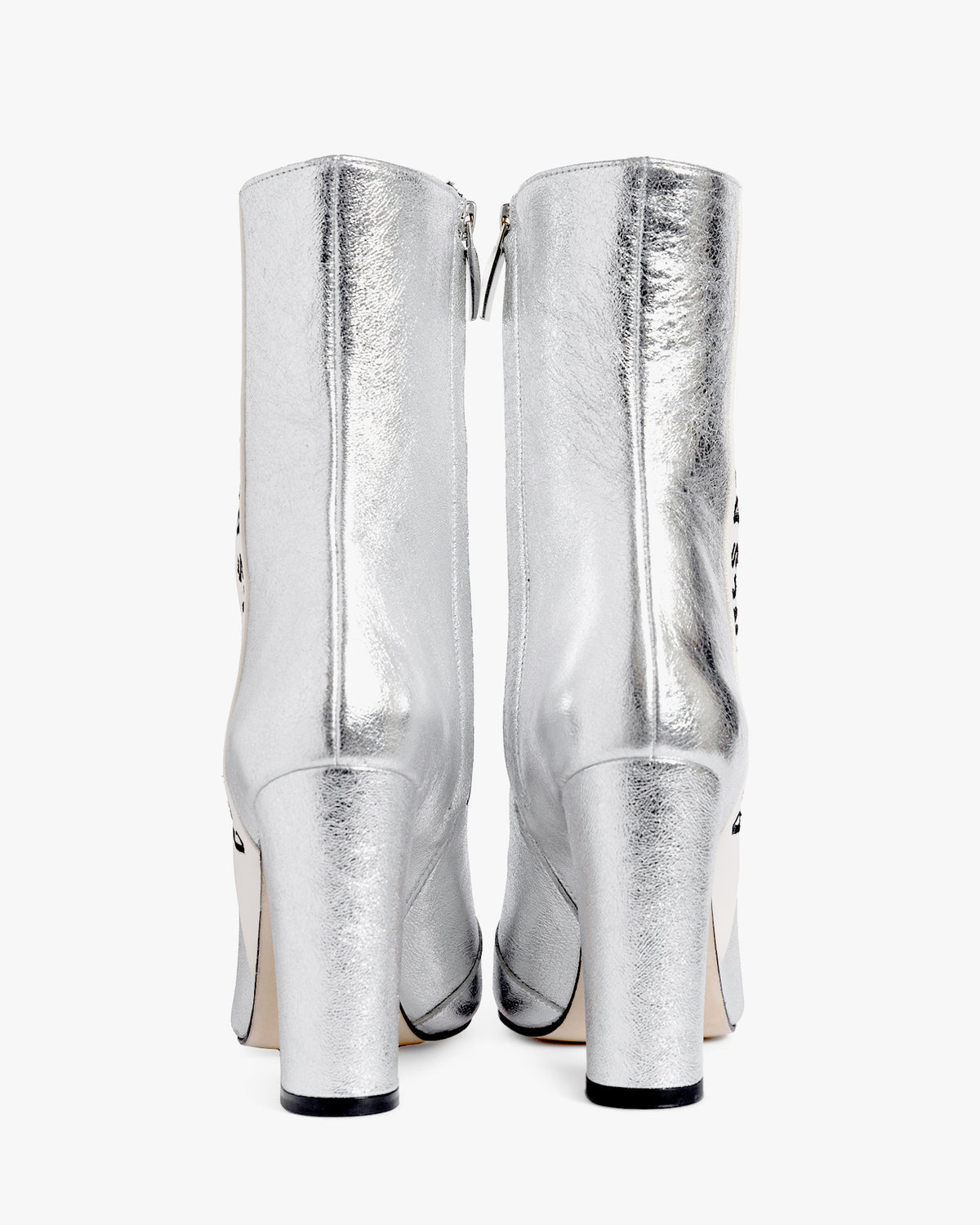 Havva Mustafa Cool Girls Don't Sleep boot in silver