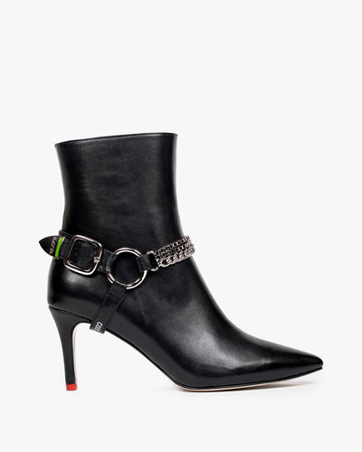 HAVVA Razor Buckle Boot Black